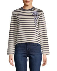 Carven - Deauville Striped Sweater - Lyst