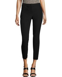 Adrianna Papell - Cropped Pant With Welt Back And Hip Pocket - Lyst