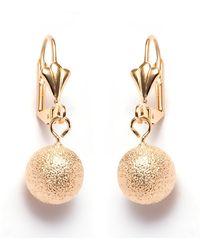 Peermont | 12mm Gold Ball Drop Earrings | Lyst