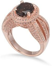 Suzy Levian - Sterling Silver 4 Cttw Smoky Quartz Ring - Lyst