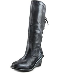 Bed Stu - Empress Round Toe Leather Knee High Boot - Lyst