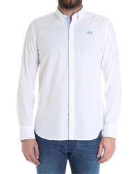 La Martina - Men's White Cotton Shirt - Lyst