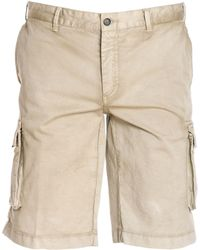 Paul & Shark - Men's E18p4180sf539 Beige Cotton Shorts - Lyst