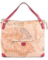Alviero Martini 1A Classe - Women's Beige Polyurethane Handbag - Lyst