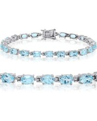 Amanda Rose Collection - Gemstone Tennis Bracelet In Sterling Silver Choose From Amethyst, Blue Topaz Or Peridot - Lyst