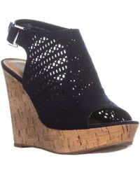 American Rag - Charlize Perforated Platform Wedge Sandals, Created For Macy's - Lyst
