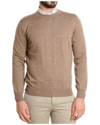 Brunello Cucinelli - Men's Beige Wool Sweater - Lyst