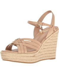 COACH - Womens Dottie Leather Open Toe Casual Platform Sandals - Lyst