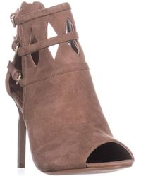 Nine West - Laulani Cutout Open Toe Dress Booties, Natural - Lyst