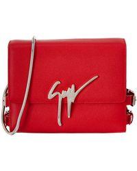 Giuseppe Zanotti - Logo Leather Shoulder Bag - Lyst