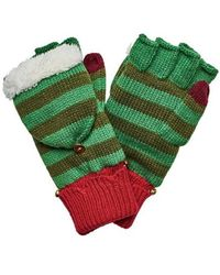 San Diego Hat Company - Women's Striped Elf Pop Over Glove With Bells Kng3474 - Lyst