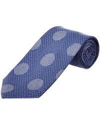 Cole Haan - Blue Dock Dot Silk-blend Tie - Lyst