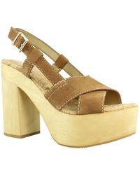 9fc9e3e8cf5fc Lyst - Sam Edelman Angela Gladiator Sandal Saddle Leather in Brown