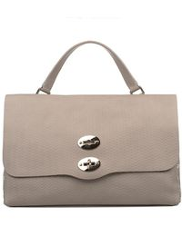 Zanellato - Women's Grey Leather Handbag - Lyst