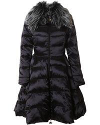 Elisabetta Franchi - Women's Black Polyamide Coat - Lyst