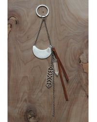 Love Leather   Silver Warrior Key Ring   Lyst