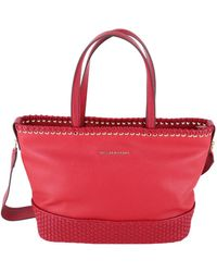 Trussardi - Women's Red Polyurethane Shoulder Bag - Lyst