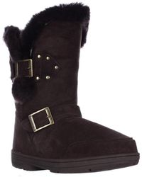 BEARPAW - Madeline Mid Calf Snow Boots, Chocolate - Lyst