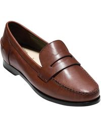 4016e8749bc Lyst - Cole haan Pinch Lte Women Moc Toe Patent Leather Pink Loafer ...