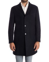 Tagliatore - Men's Blue Wool Coat - Lyst