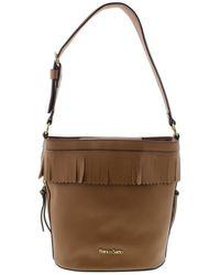 7afbd843b7d3 Franco Sarto - Womens Sarah Faux Leather Hobo Bucket Handbag - Lyst