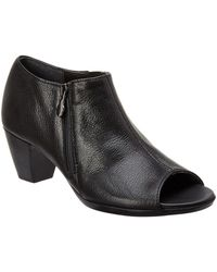 Munro - Luisa Open Toe Leather Bootie - Lyst