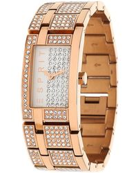Esprit - Watch Bling Bling Houston Pink Gold Es000ew2007 - Lyst