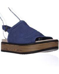 Naya | Uno Casual Slingback Platform Sandals - Blue | Lyst