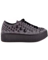 Pinko - Women's Grey Viscose Sneakers - Lyst