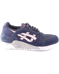 Asics - Men's Mcbi028006o Blue Suede Sneakers - Lyst