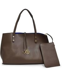 Adrienne Vittadini - The Caroline Collection Large Womens Tote With Accessory Pouch - Lyst