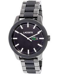 Lacoste - Men's Pinnacle 2010923 Silver Silicone Japanese Quartz Fashion Watch - Lyst