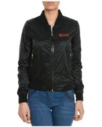 Franklin & Marshall | Women's Black Polyester Outerwear Jacket | Lyst