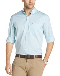 Izod - Mens Solid Cotton Button-down Shirt - Lyst