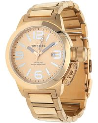 TW Steel - Watch Canteen Style Pink Gold Tw-303 - Lyst