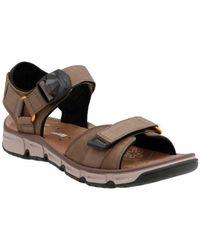 b735846b965a Lyst - Clarks Swing Part Open-toe Leather Fisherman Sandal in Brown ...