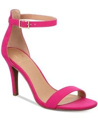 Material Girl - Womens Laire Suede Square Toe Special Occasion Ankle Strap Sand... - Lyst