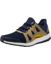 adidas - Women's Pureboost Xpose Trace Blue / Tactile Gold Legend Ink Ankle-high Fabric Running Shoe - 9.5m - Lyst