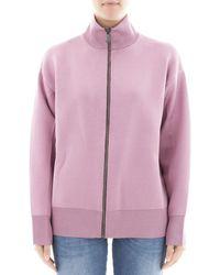 Bottega Veneta - Women's Pink Wool Sweatshirt - Lyst