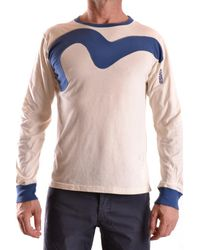 Evisu - Men's Mcbi338007o White Cotton T-shirt - Lyst