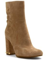 MICHAEL Michael Kors - Womens Chase Suede Almond Toe Ankle Fashion Boots - Lyst
