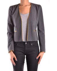 Pinko - Women's Mcbi242190o Grey Viscose Blazer - Lyst