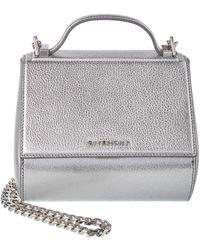 f34d0ce1f443 Lyst - Givenchy Pandora Mini Cross Embellished Leather Shoulder Bag ...