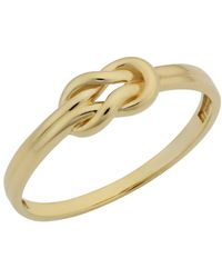 Jewelry Affairs - 14k Yellow Gold Love Knot Ring - Lyst
