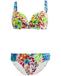 Les P'tites Bombes - 2 Pieces Multicolor Swimsuit Balconnet D Cup Hawai 005 - Lyst