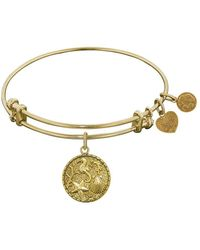 Angelica - Stipple Finish Brass The Sea Bangle Bracelet, 7.25 - Lyst