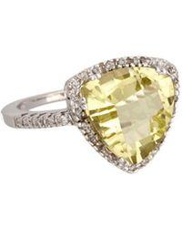 Effy - Fine Jewelry 14k 5.20 Ct. Tw. Diamond & Quartz Ring - Lyst