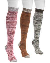 Muk Luks - Women's Mircrofiber Knee High Socks - Lyst