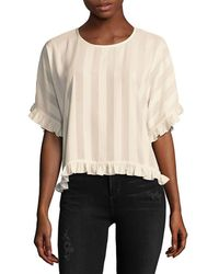 Laundry by Shelli Segal - Striped Blouse - Lyst