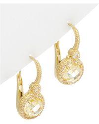 Judith Ripka - 14k Over Silver 0.48 Ct. Tw. White Topaz & Cz Drop Earrings - Lyst